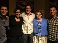 Colm Keegan, my daughter, Emmett O'Hanlon, me, Ryan Kelly