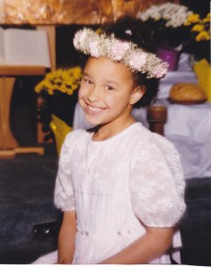 My daughter, Katy, at her First Communion.